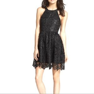 ASTR The Label Crochet Halter Dress